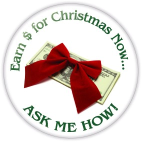 "Earn Money for Christmas Now Button - 3"" Round   - stock # 691"