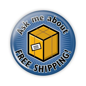 "Free Shipping Box 2.25"" Button   - stock # 682"