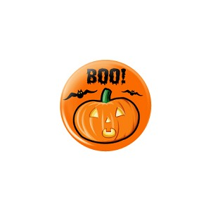 "Halloween Boo 1.25"" Button  - stock # 628"