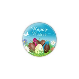 "Happy Easter 1.25"" Button   - stock # 632"