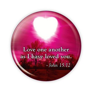 "Love One Another 2.25"" Button     - stock # 637"