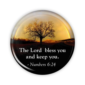"The Lord Bless You 2.25"" Button    - stock # 636"