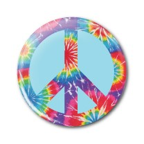 "Peace Tie Dye 2.25"" Button  - stock # 618"