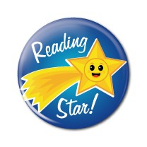 "Reading Star 2.25"" Button   - stock # 620"