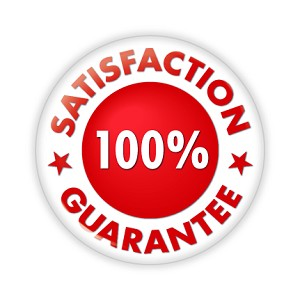 "100% Satisfaction Guarantee 2.25"" Red Button   - stock # 663"