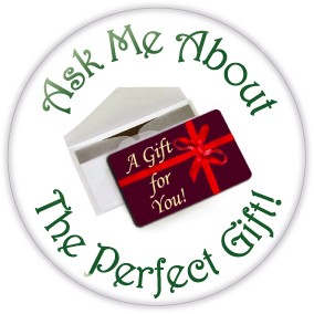 "Holiday Gift Card Button - 3"" Round  - stock # 692"