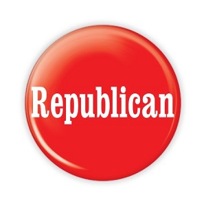 "2.25"" Republican Button  - stock # 854"
