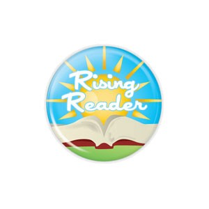 "Rising Reader SMALL 1.5"" Button  - stock # 774"