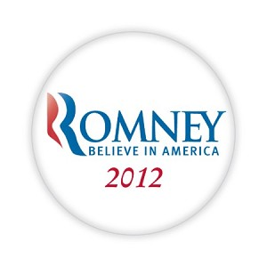 "2.25"" Mitt Romney - Believe in America Button  - stock # 816"