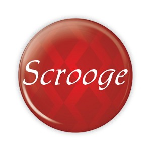 "Christmas - Scrooge - 2.25"" Button  - stock # 781"