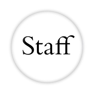 "Staff Basic 2.25"" Button  - stock # 741"