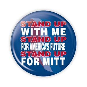 "2.25"" Stand Up for Mitt Button  - stock # 865"