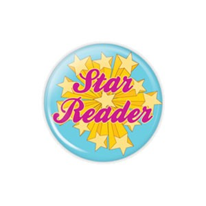"Star Reader SMALL 1.5"" Button  - stock # 772"