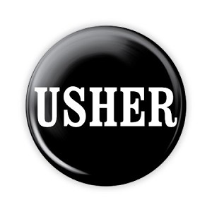 "Usher Basic 2.25"" Button  - stock # 824"