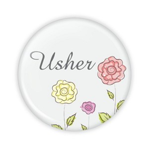 "Usher Flowers 2.25"" Button  - stock # 825"