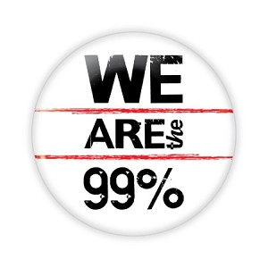 "2.25"" We Are the 99% Button  - stock # 751"