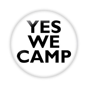 "2.25"" Yes We Camp Button  - stock # 750"